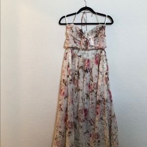Zimmerman Eden Floral Print Embroidered Dress